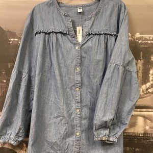 NWT, Old Navy denim shirt size 2X, $14